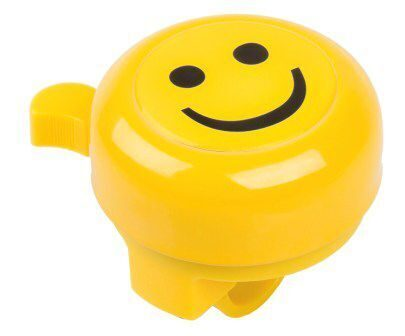 "Звонок  plastic lower part with 2 screws, yellow with 3-D-sticker ""SMILEY"""