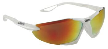 "Очки sun glasses, ""MIGHTY"", shiny pearlized white frame, IRIDIUM-COATED lens, cl"