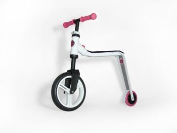 Самокат 2in1 walking bike and scooter, white/pink