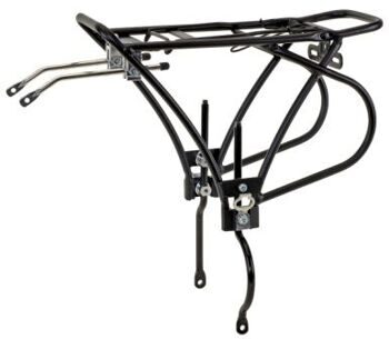 "Багажник  CD-47( for disc brake bike), alloy,26""-28"" adjustable ,Color: black & silver"