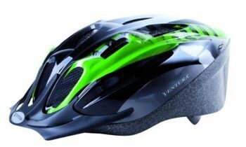 "Шлем helmet for youth, size: M, 54-58 cm, green/black/white ""Mamba"