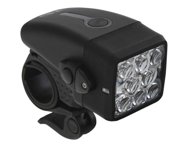 "Фара head light, black,  22.0 - 31.8 mm,  silver ""M-Wave"""