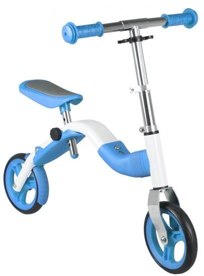 Самокат 2in1 running bike and scooter, white/blue