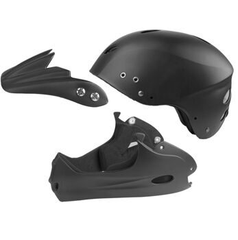 Шлем freeride/downhill, size M: 60-62 cm, matt black