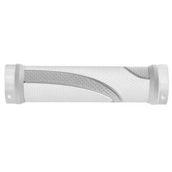 Ручки руля screw-on-grip, 130 mm, white/grey,alloy double fixation