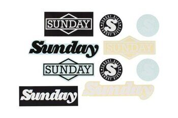 Наклейки SUNDAY ASSORTED PACK - VINYL/CLEAR BACK