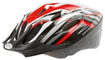 Шлем helmet for youth, size: M, 54-58 cm, red/black/white/silver