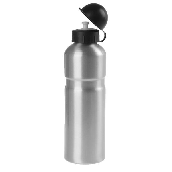 Фляга alloy water bottle, with protection cap, 750 ccm,silver,