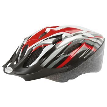 Шлем helmet for adults, size: L, 58-62 cm, red/black/white/silver