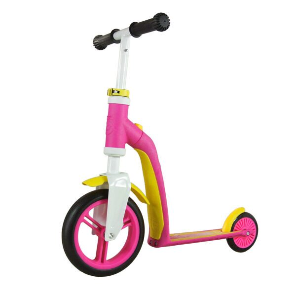 "Самокат Scoot&Ride 2-in-1 running bke and scooter ""HIGHWAYBABY"", pink/yellow"