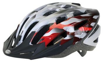 Шлем size 54 - 58 cm (M), with visor, silver/white/red, box
