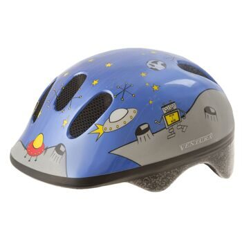 "Шлем for children, 52-57 cm (S), ""Space"", with reflective material"