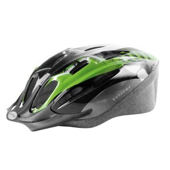 "Шлем for adults,L 58-62 cm, green/black/white ""Mamba"